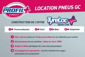 Profil Plus propose la location de pneus à l'heure pour le génie civil
